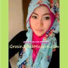 Jilbab Hoodie Alice Dengan Dua Pilihan Motif  Bunga Atau Motif Kupu-kupu Yang Cantik