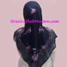 Jilbab Paris Sulam Bayangan Motif Kupu Kupu Yang Anggun
