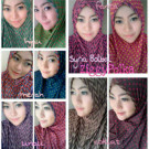 Jilbab Syria Bolak Balik Beda Motif ( Motif Tribal & Motif Polka ) atau biasa disebut Jilbab Syria Bolbal Tribal Polka