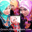 Jilbab Syria Motif Bunga Yang Anggun