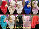 Jilbab Syria Curly Berhiaskan Headband Mawar Yang Cantik