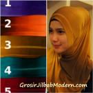 Jilbab Syria Gradasi Warna Polos Tanda Gliter Cantik Sekali