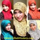 Jilbab Syria Motif Noodles Anggun dan Mewah