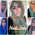 Jilbab Lenka Hoodie Motif Polkadot Yang Menawan