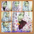 Jilbab Pasmina Sifon Motif Kue Ulang Tahun