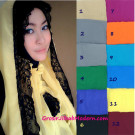 Jilbab Hoodie Alona Polos, Jilbab Paket Hemat Include Inner Yang Tidak Menyatu