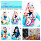 Jilbab Blossom Hoodie by Fisura Model Hoodie Serut Modis Dan Modern