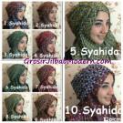 Pashmina Syria Shenica Sunzel, Jilbab Instant  Bolak Balik Modis , Trendy & Simple by Syahida