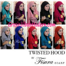 Jilbab Twisted Hoodie Cantik Original by Fisura Scarf
