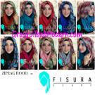 Jilbab Instant Hoodie ZipZag by Fisura Scarf