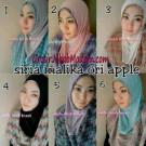 Jilbab Syria Malika Simple dan Trendy by Apple Hijab Brand