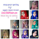 Pashmina Instant Syrpash Ruffle Sparkling by Apple Hijab Brand