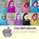 Pashmina Instant Plain Diamond Curly Original by Apple Hijab Brand