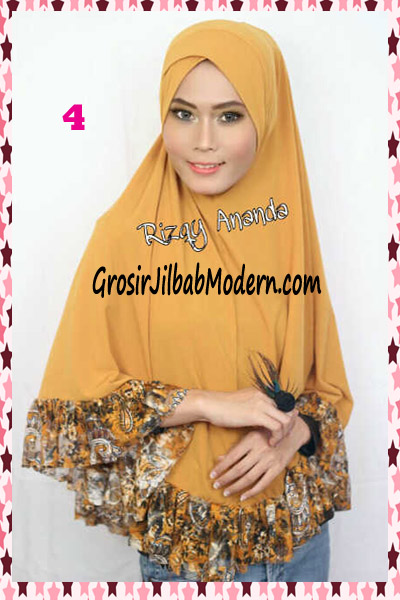 Jilbab Jumbo Brokat Stephanie No 4 Kuning Kunyit | Grosir