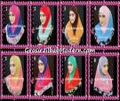 Jilbab Syria Kombinasi Cantik Ahza by Qalisya