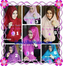 Jilbab Pesta Instant Modern An Nur Syira Sequin by Apple Hijab Brand