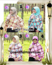 Jilbab Lengan Model Cardigan Luxury Al Waqiah Syar'i Blueberry By Apple Hijab Brand