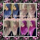 Jilbab Instant Modern Arzety Polka Bolak Balik Salur Jeans Original by Narinda