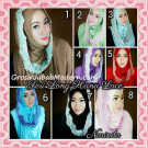 Jilbab Instant Long Hana Lace CHSI Original by Narinda Series