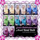 Jilbab Syria Arzety Bolak Balik Polka Bintang Original Apple Hijab Brand