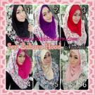 Jilbab Instant Hoodie Zahara Bunga Cantik By Narinda