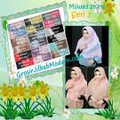 Jilbab Khimar Cantik Cerutti  Mijwad 2Tone Seri 3 Original by Qalisya Brand