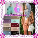 Jilbab  Pashmina Instan Hoodie Alaia Plain Original by Apple Hijab Brand