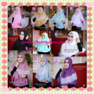 Hijab Syar'i Khimar Halimah Cantik Original By Apple Hijab Brand