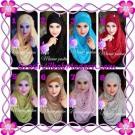 Jilbab Pashmina Instant Marine Modis by Apple Hijab Brand