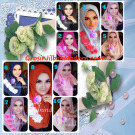 Jilbab Syria Anindya Bunga 3 Dimensi Original By Apple Hijab Brand