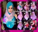 Jilbab Syria Cantik dan Mewah Balkis Twist Original by Apple Hijab Brand