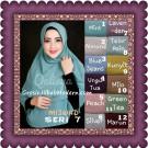 Jilbab Khimar Syar'i Mijwad Polos Seri 7 Original by Qalisya