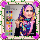 Jilbab Segi Empat Modern Bahan Tierack Oneto Seri 1