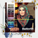 Jilbab Pashmina Panjang Motif Butterfly Cantik