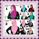 Jilbab Instant Simple Cantik Hana New Series Original By Apple Hijab Brand