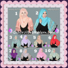 Jilbab Pashmina Instant Unik dan Cantik Premium Miranda Ruffle Original By Apple Hijab Brand