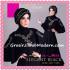 Gamis Modis Set Cantik Elegant Black Original By Al-Mi'a