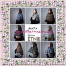 Jilbab Cerutti Nyentrik Khimar Etnik Original by Sayra