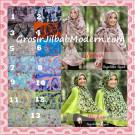 Jilbab Kombinasi Flower dan Polos Khimar Michan Pet Original by Syahida