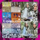 Jilbab Kombinasi Flower dan Polos Khimar Michan Tanpa Pet Original by Syahida