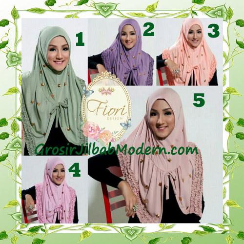 Jilbab langsung pakai modis syria daily studded original fiori design