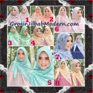 Jilbab Khimar Syar'i Cantik Halwa Brukat Seri 3 Original By Qalisya Brand