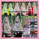 Jilbab Kombinasi Polos dan Flower Khimar Michan Non Pet Seri 2 Original by Syahida