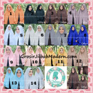 Jilbab Pashmina Khimar Lipit Cantik Original Qalisya Brand
