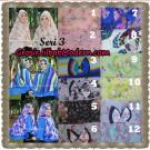 Jilbab Kombinasi Bunga dan Polos Khimar Michan Pet Seri 3 Original by Syahida