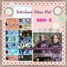 Jilbab Cerutti Kombinasi Polos dan Flower Khimar Michan Non Pet Seri 3 Original by Syahida Brand