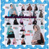 Jilbab Parade Of Khimar Motif Kombinasi Polos Pet Seri 2 Support By Oneto Hijab