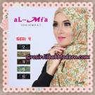 Jilbab Segi Empat Almia Seri 04 Motif Bunga Kecil Original By Almia ( Al-Mi'a Brand )
