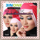 Inner Jilbab Kerut Risty 3 In One Original By Sayra Hijab