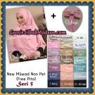 Jilbab Cerutti Khimar Mijwad Non Pet Seri 5 Original by Qalisya Brand